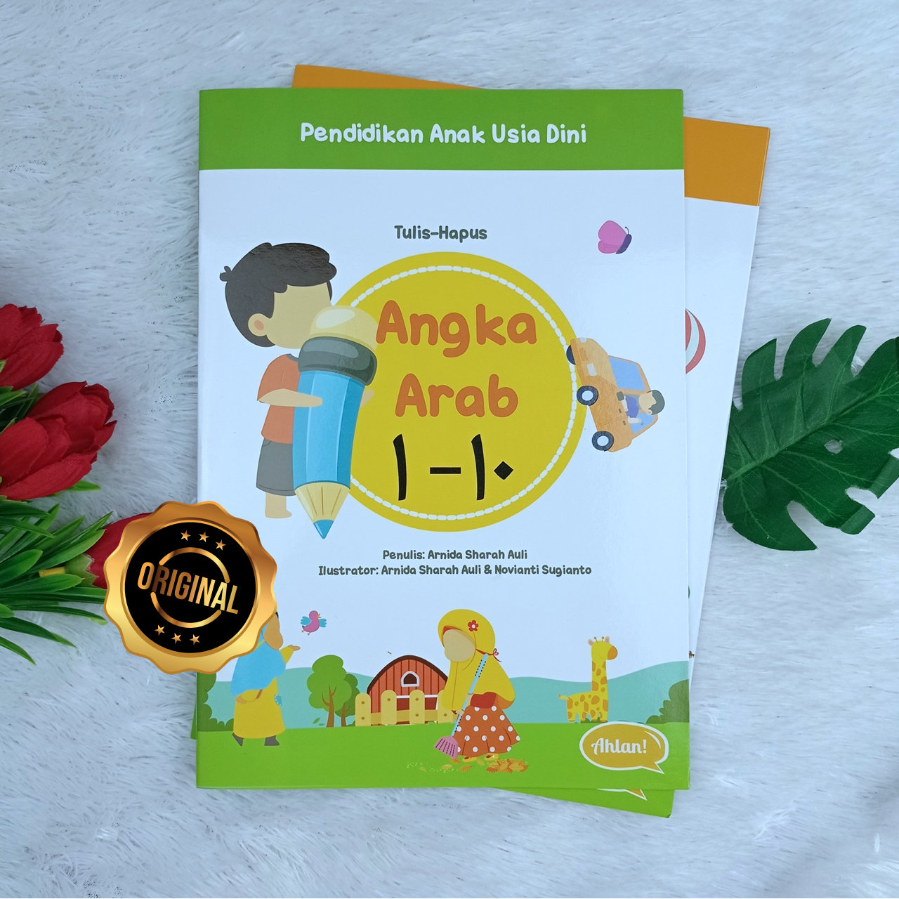 Buku Anak Hapus Tulis Angka Arab 1-10 Dan 11-20 Plus Penghapus