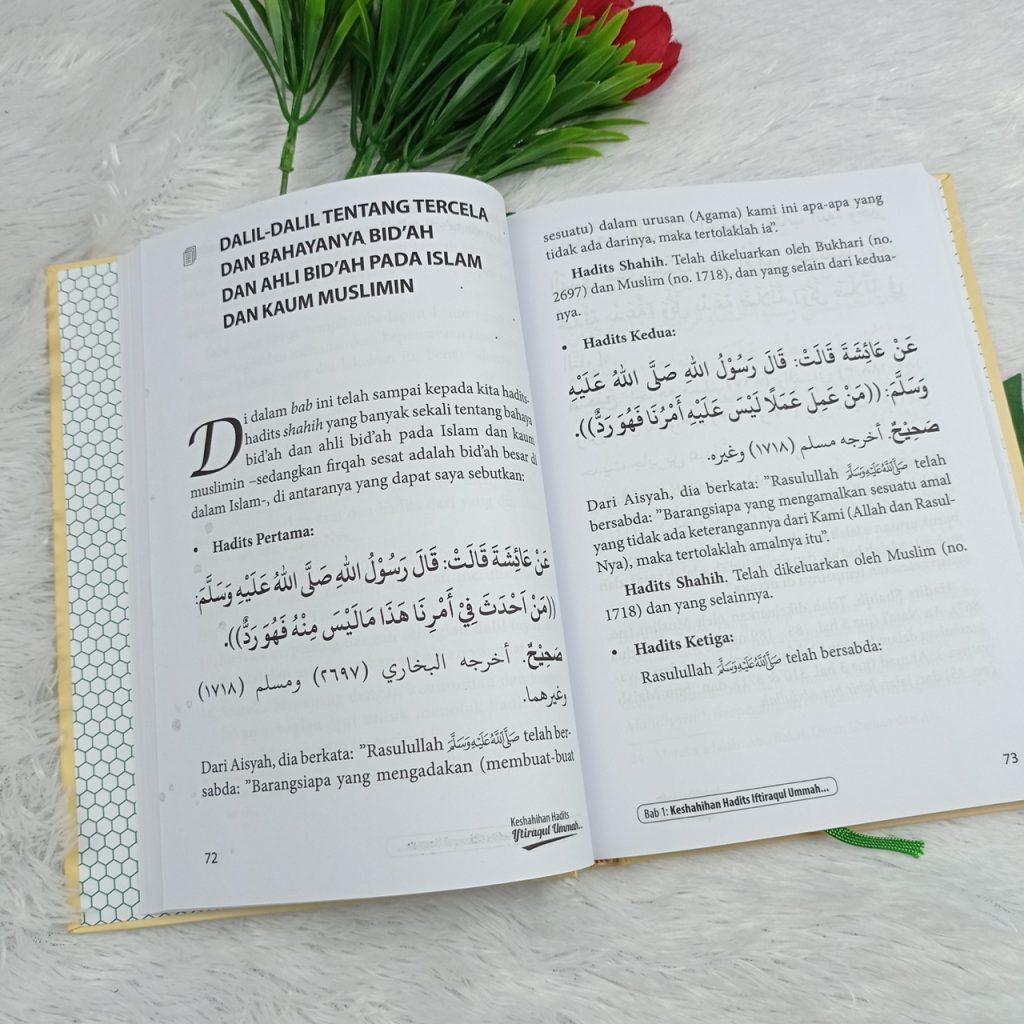 Buku Keshahihan Hadits Iftiraqul Ummah