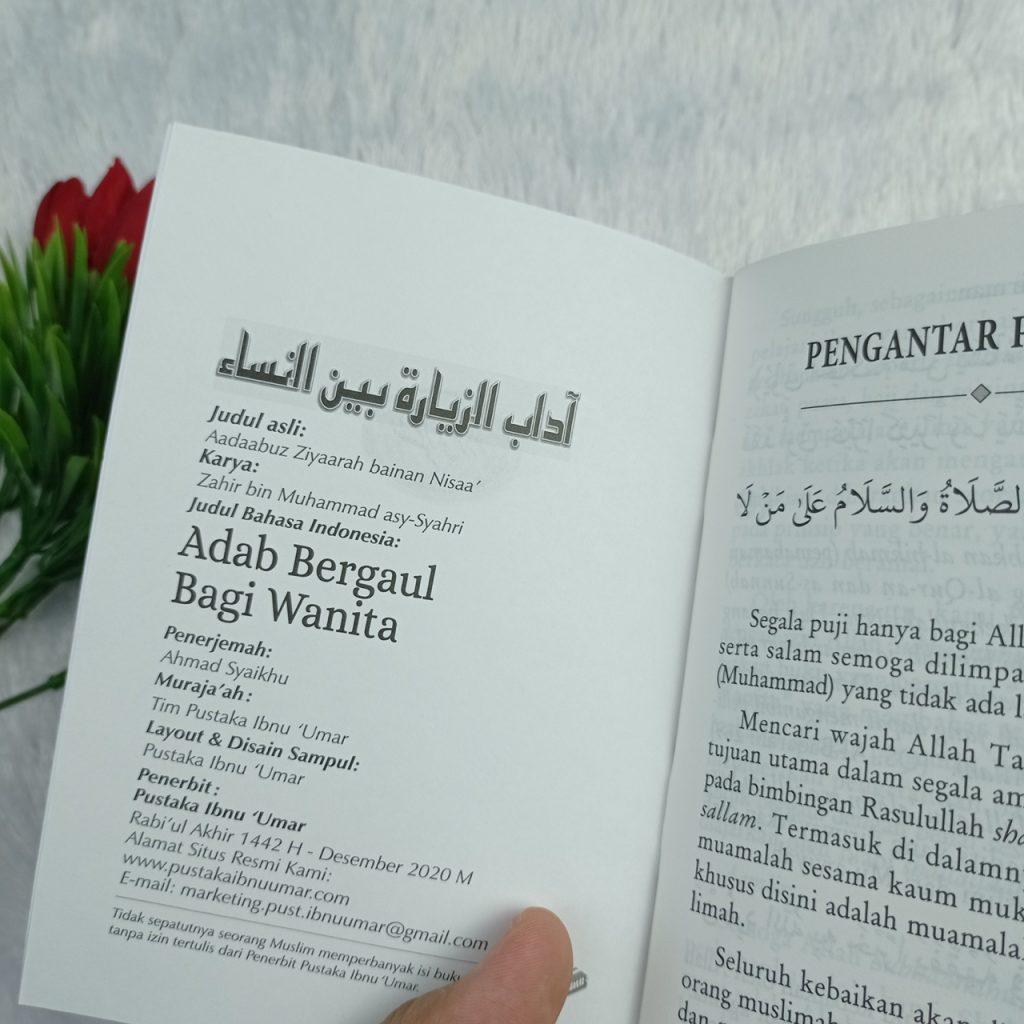Buku Saku Adab Bergaul Bagi Wanita Muslimah