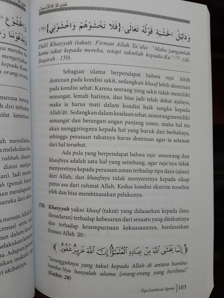 3 syarah landasan agama buku isi