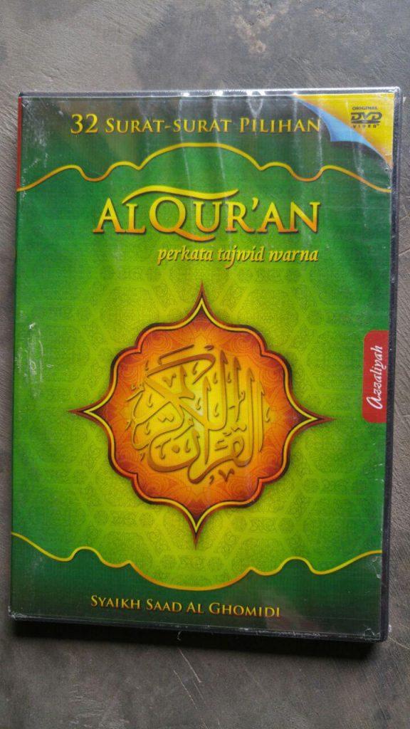 Video DVD 32 Surat Al-Quran Pilihan Syaikh Saad Al Ghomidi cover