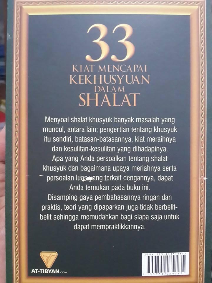 Buku 33 Kiat Mencapai Kekhusyuan Dalam Shalat Cover 2