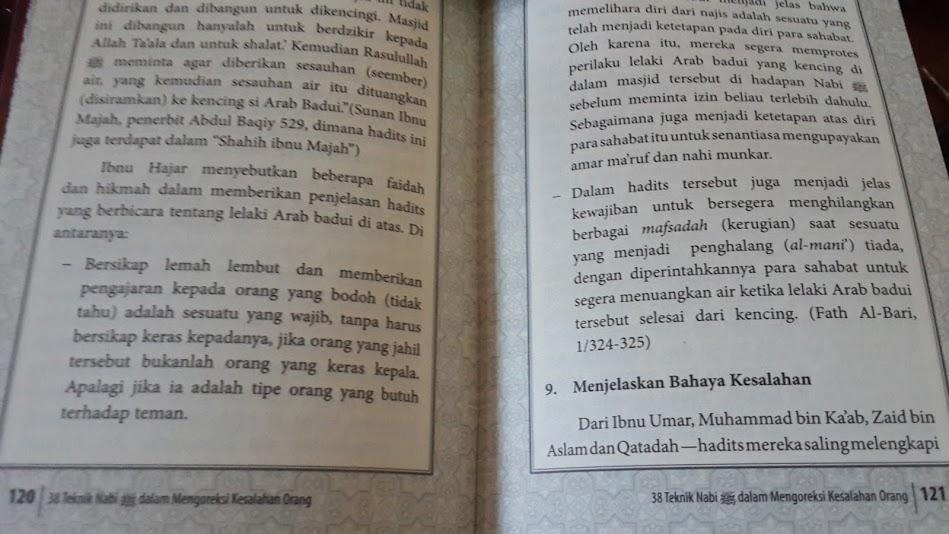 Buku 38 Teknik Nabi Dalam Mengoreksi Kesalahan Orang Isi