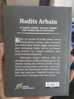 Buku Hadits Arbain 40 Hadits Pilihan Tentang Prinsip Dan Manhaj Dalam Beragama Cover Belakang