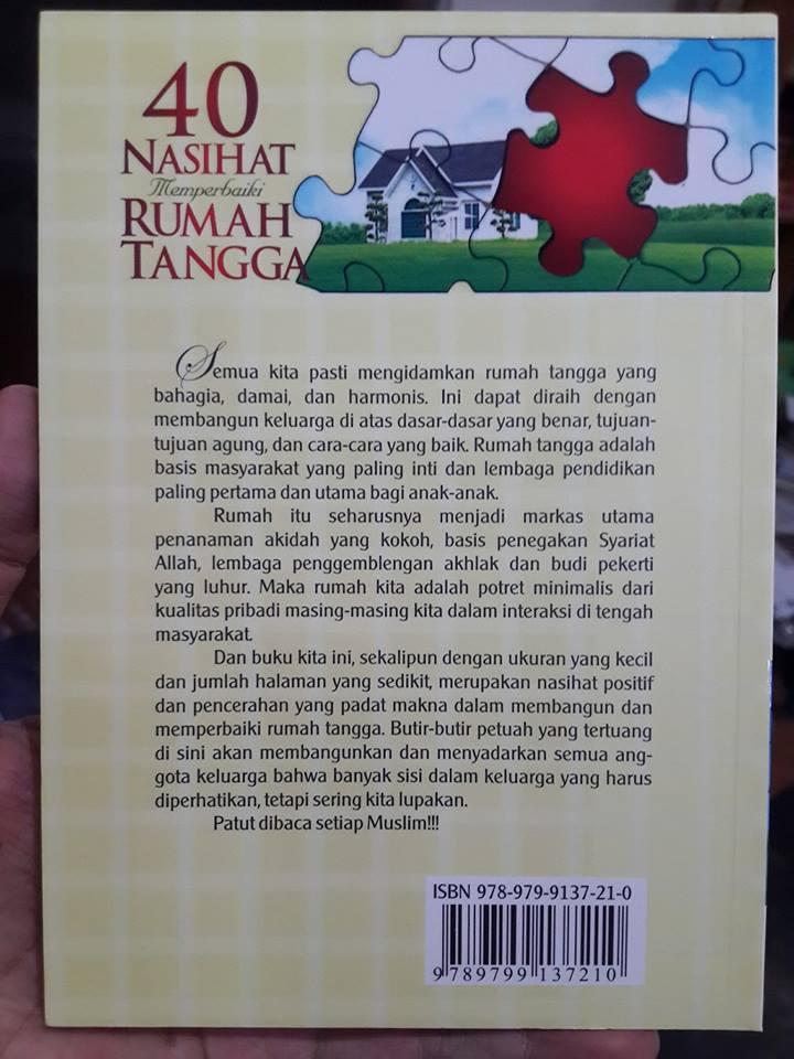 40 nasehat memperbaiki rumah tangga buku cover 2