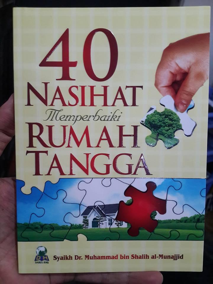 40 nasehat memperbaiki rumah tangga buku cover