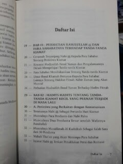 Buku 400 Hadits Akhir Zaman Daftar Isi