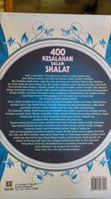 Buku 400 Kesalahan Dalam Shalat cover 2
