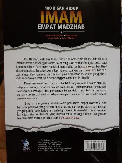 Buku 400 Kisah Hidup Imam Empat Madzhab Cover 2
