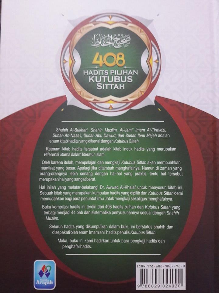 Buku 408 Hadits Pilihan Kutubus Sittah Cover 2