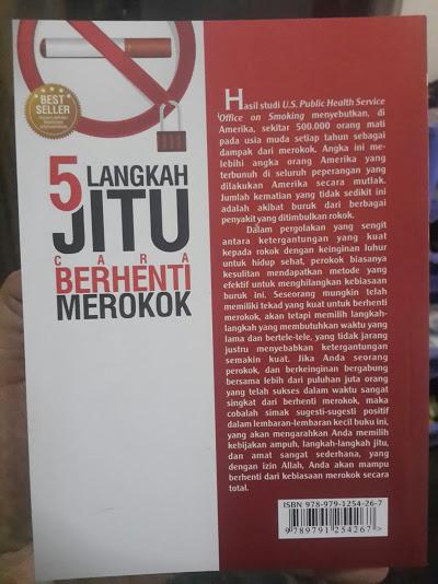Buku 5 Langkah Jitu Cara Berhenti Merokok Cover Belakang