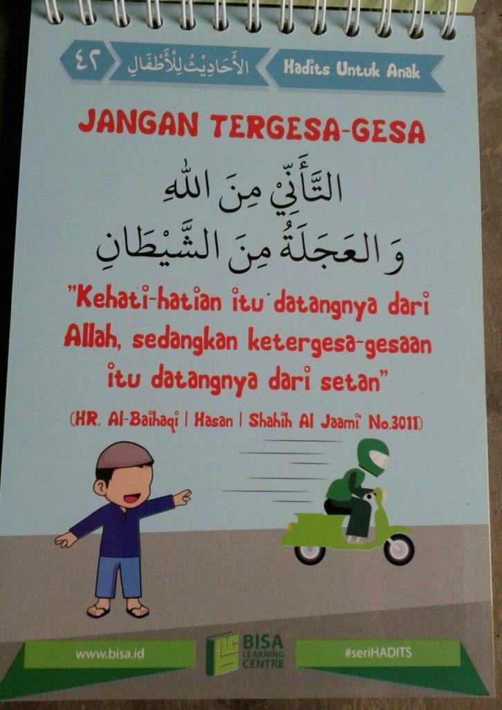 Buku Poster Kalender 50 Hadits Pilihan Untuk Anak Seri 1 isi 5