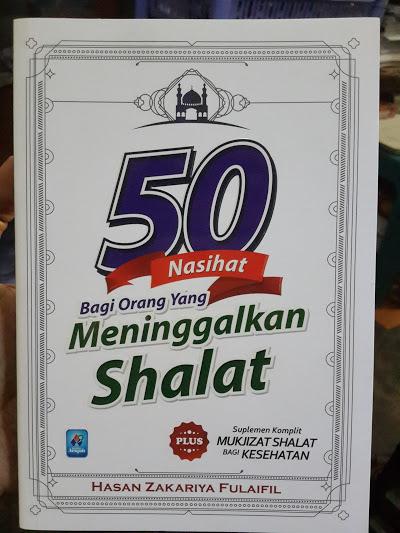 Buku 50 Nasihat Bagi Orang Yang Meninggalkan Shalat Cover