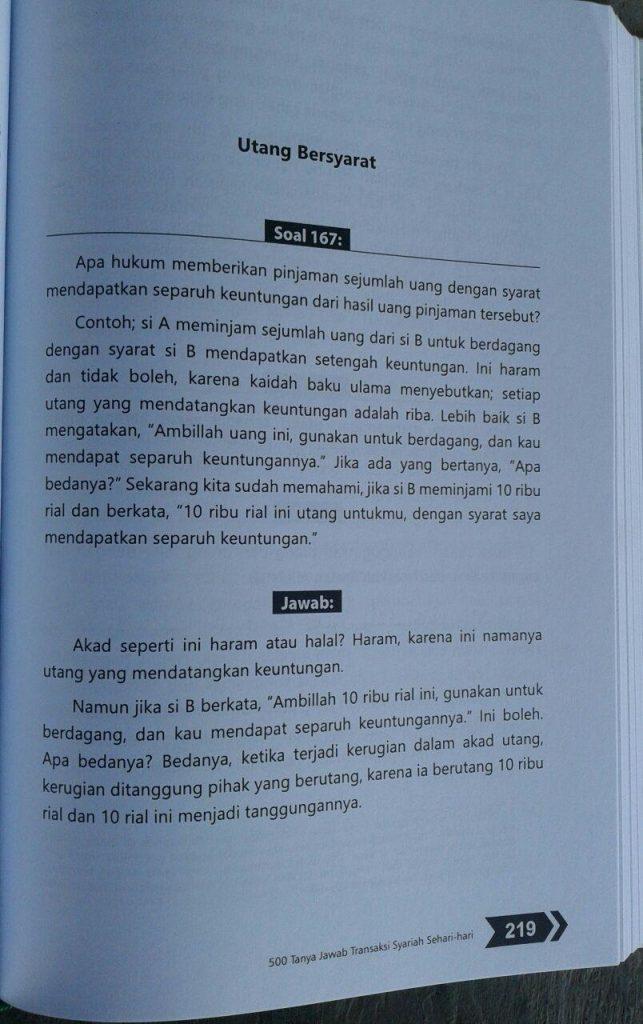 Buku 500 Tanya Jawab Transaksi Syariah Sehari Hari isi 4