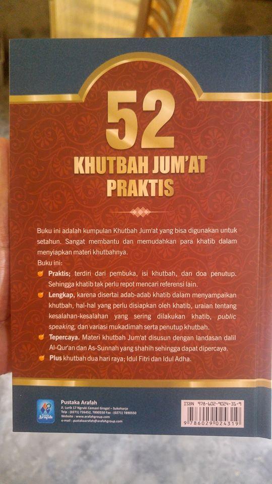 Buku 52 Khutbah Jum'at Praktis cover 2