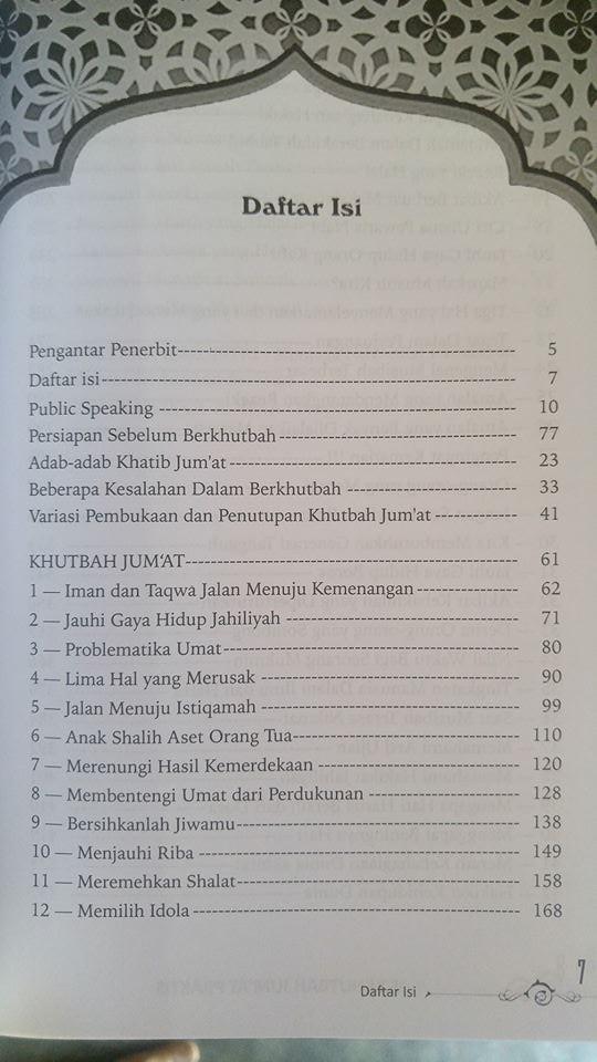 Buku 52 Khutbah Jum'at Praktis isi 3