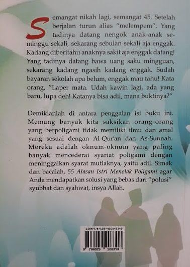 Buku 55 Alasan Istri Menolak Poligami Cover 2