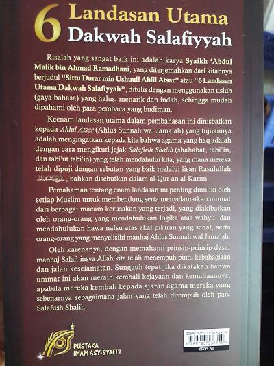 Buku 6 Landasan Utama Dakwah Salafiyyah Cover 2