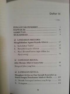 Buku 6 Landasan Utama Dakwah Salafiyyah Daftar Isi