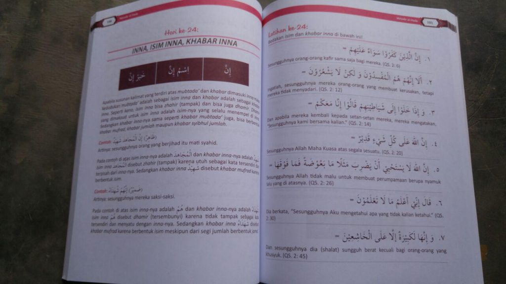 60 Hari Bisa Menerjemahkan Al-Qur'an Metode Al-Huda isi 2