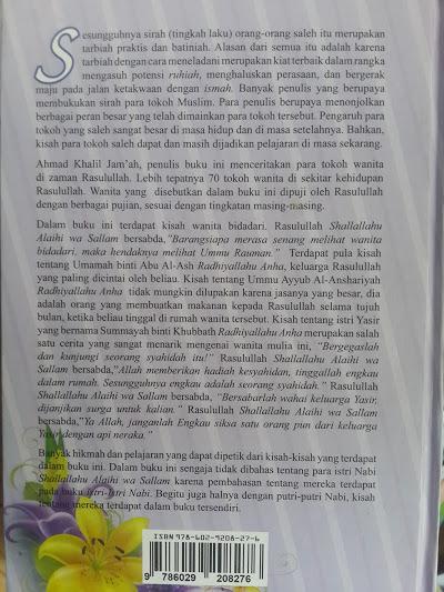 Buku 70 Tokoh Wanita Dalam Kehidupan Rasulullah Cover Belakang