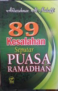 Buku 89 Kesalahan Seputar Puasa Ramadhan Cover