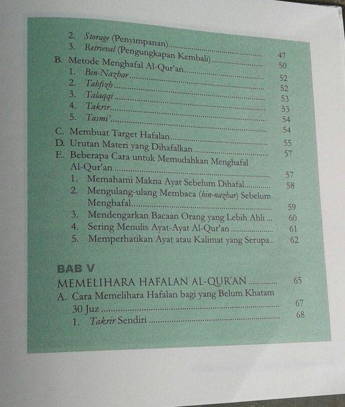Buku 9 Cara Praktis Menghafal Al-Qur'an isi 2
