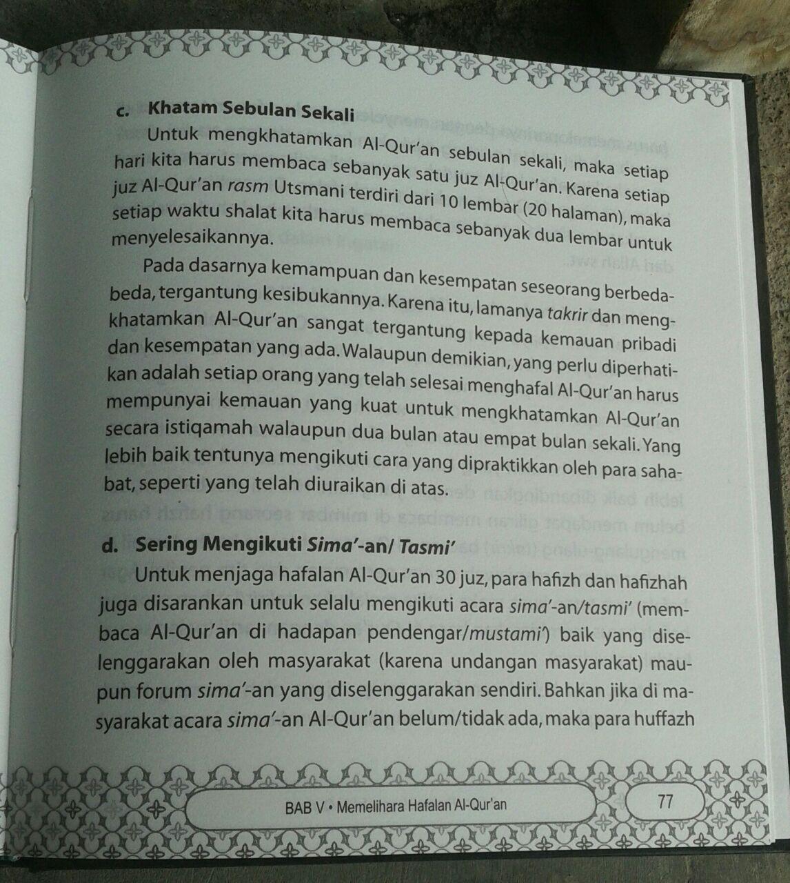 Buku 9 Cara Praktis Menghafal Al-Qur'an isi 4