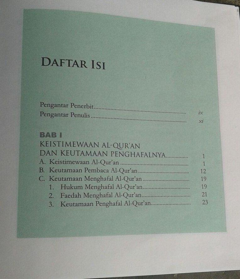 Buku 9 Cara Praktis Menghafal Al-Qur'an isi
