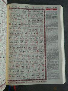 Al-Quran Mushaf Tajwid Kode Transliterasi Terjemah Per Kata isi