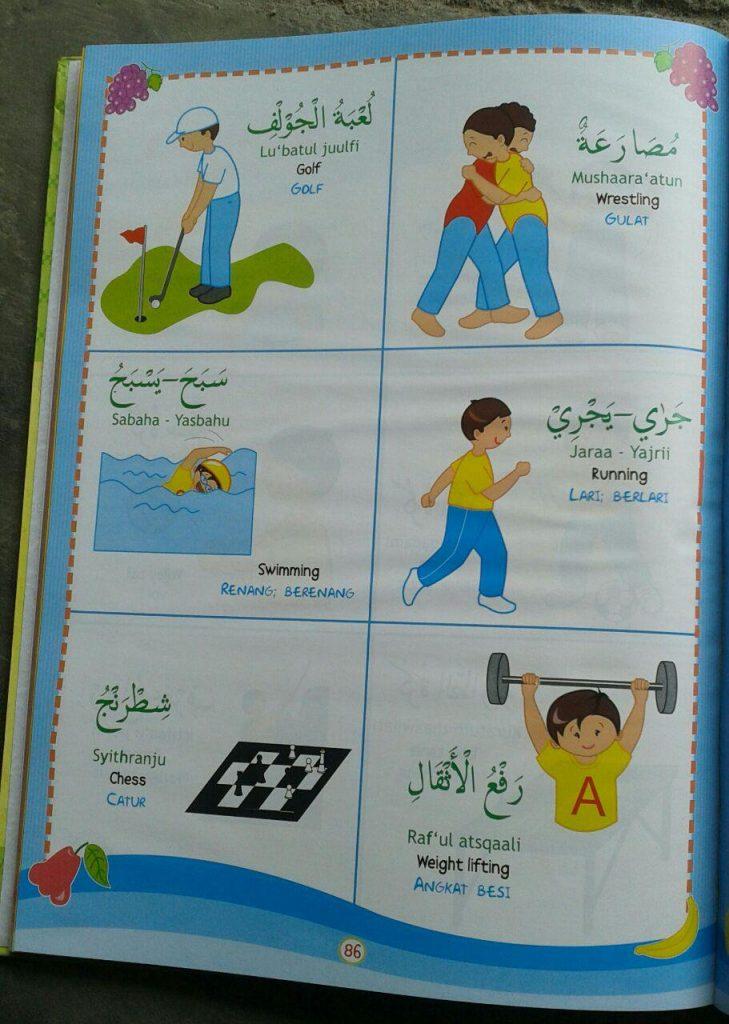 Buku Kamus Anak 3 Bahasa Arab Indonesia Inggris isi