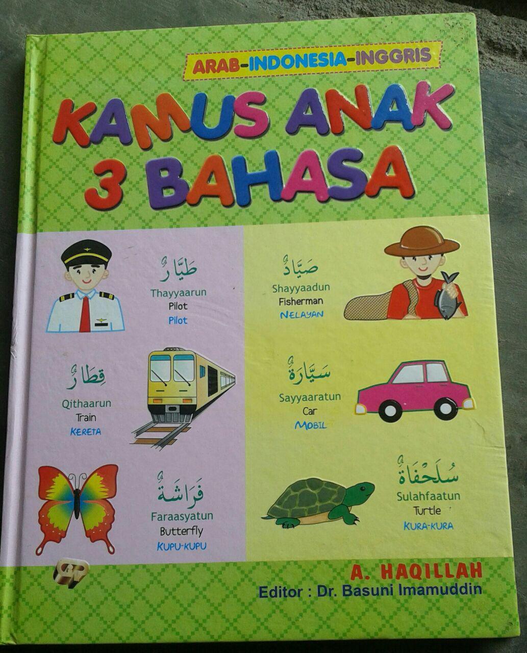 Buku Kamus Anak 3 Bahasa Arab Indonesia Inggris cover