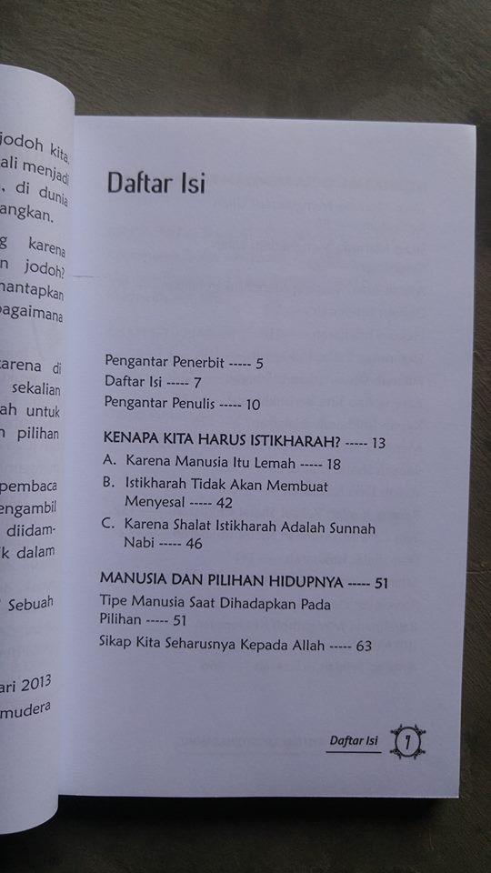 Buku Temukan Aku Dalam Istikharahmu isi 2