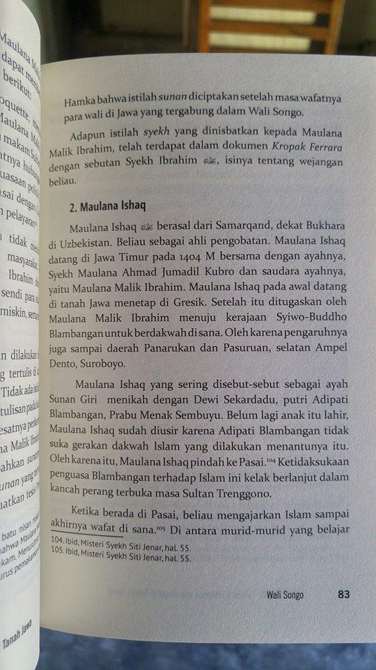 Walisongo Gelora Dakwah Dan Jihad Di Tanah Jawa Buku isi