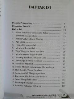 Buku Abu Bakar Ash-Shiddiq Pembela Nabi Daftar Isi