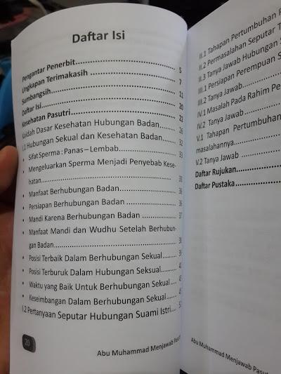 Buku Abu Muhammad Menjawab Solusi Problematika Pasutri Daftar Isi