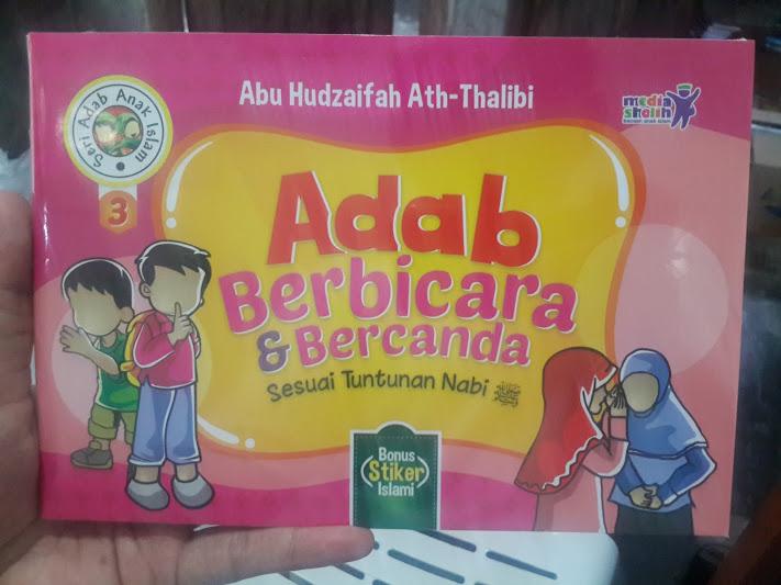 Buku Anak Adab Berbicara dan Bercanda Sesuai Tuntunan Nabi Cover