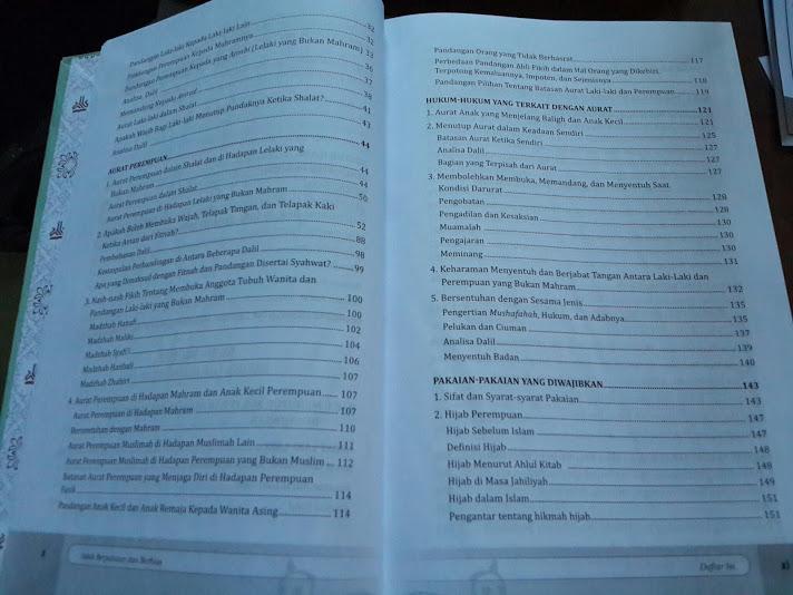Buku Adab Berpakaian Dan Berhias Daftar Isi