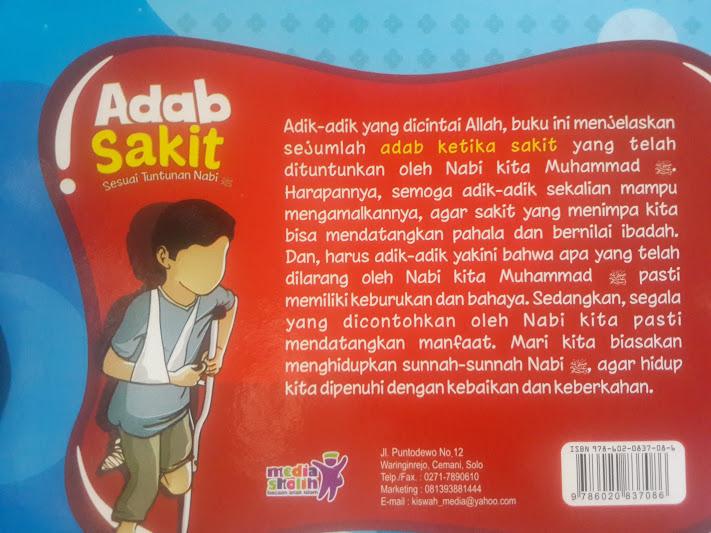 Buku Anak Adab Sakit Sesuai Tuntunan Nabi Cover 2