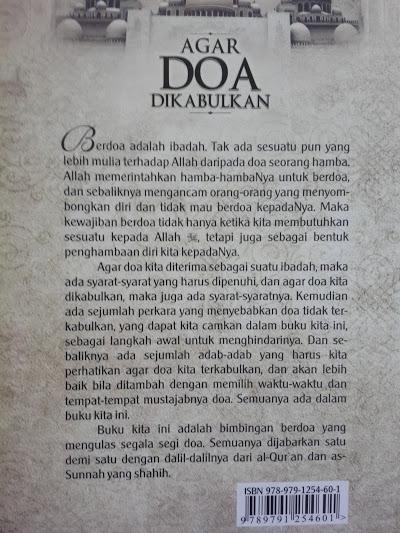 Buku Agar Doa Dikabulkan Sebab Terkabul Tertolaknya Doa Cover 2
