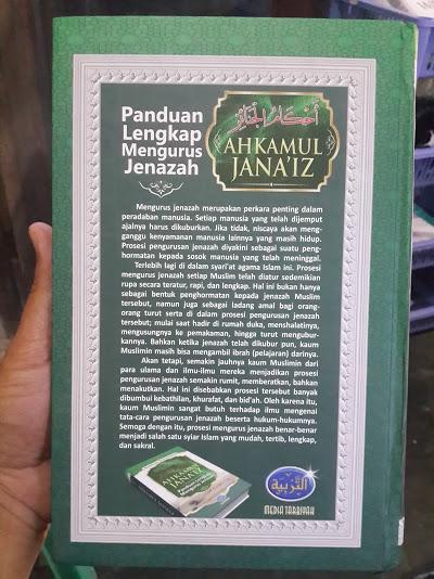 Buku Ahkamul Janaiz Panduan Lengkap Mengurus Jenazah Cover Belakang