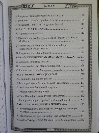 Buku Ahkamul Janaiz Panduan Lengkap Mengurus Jenazah Daftar Isi