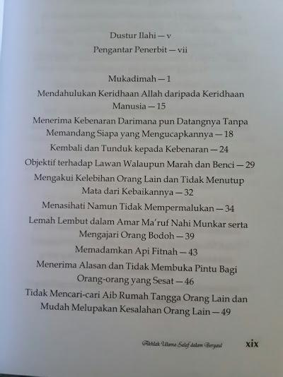 Buku Akhlak Ulama Salaf Dalam Bergaul Isi