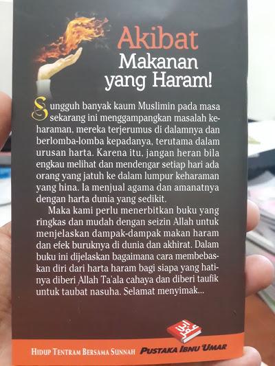 Buku Saku Akibat Makanan Yang Haram Cover 2