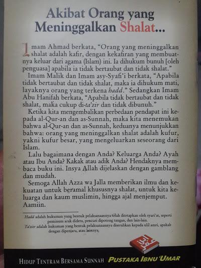 Buku Saku Akibat Orang Yang Meninggalkan Shalat Cover 2