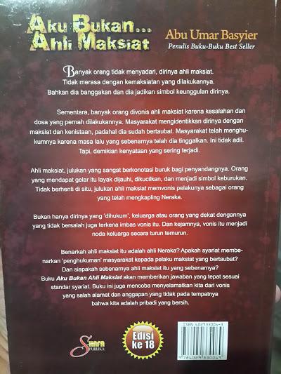 Buku Aku Bukan Ahli Maksiat Cover 2