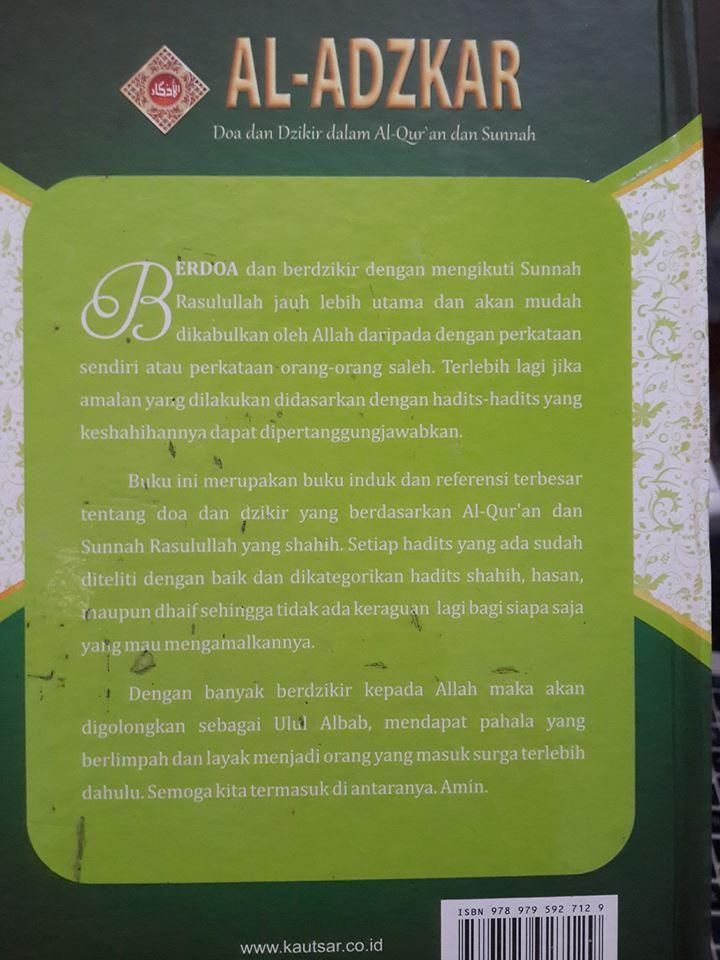 al-adzkar doa dan dzikir dalam al-Qur'an dan as-Sunnah cover 2