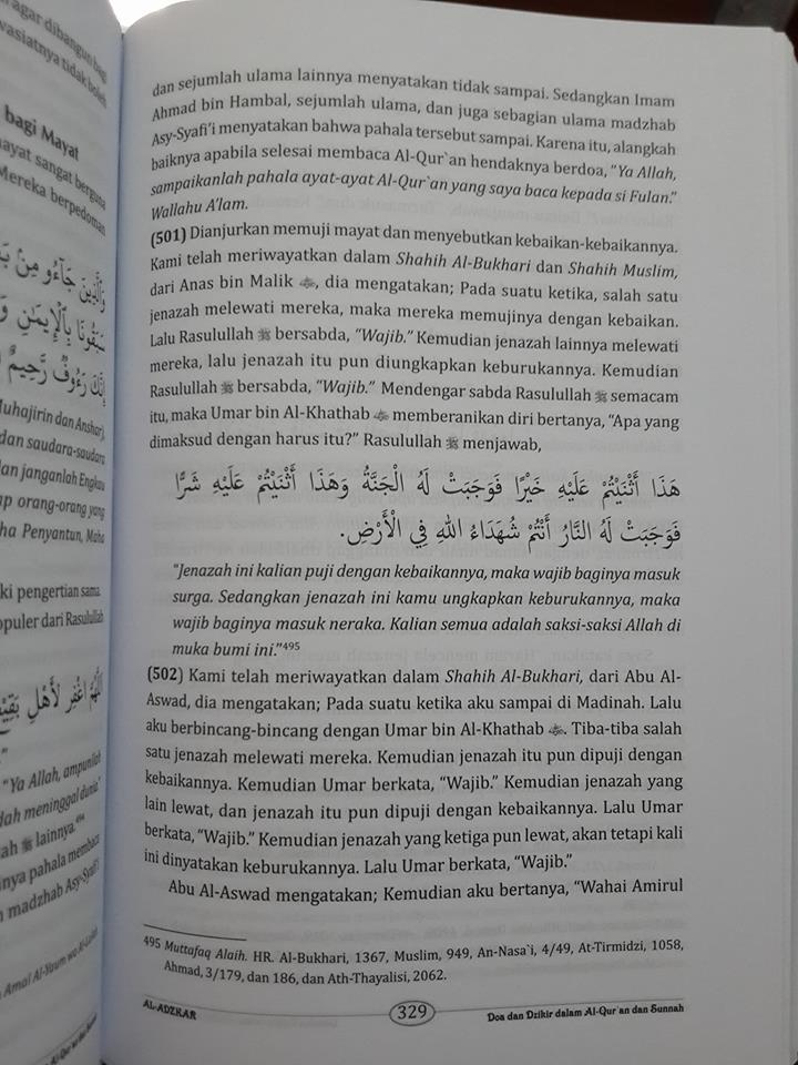 al-adzkar doa dan dzikir dalam al-Qur'an dan as-Sunnah isi