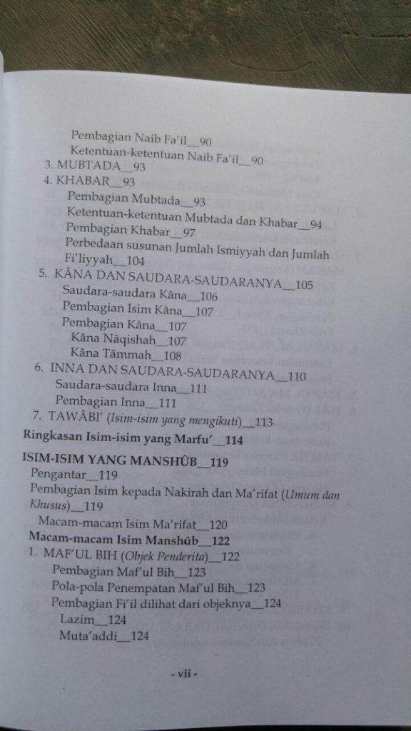 Kitab Amtsilatut Tashrif isi