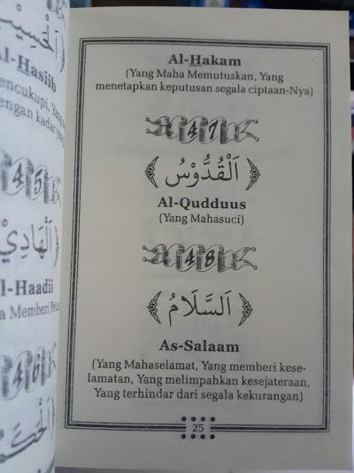 Buku Saku Al-Asmaul Husna Isi 2